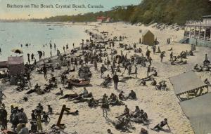 CRYSTAL BEACH , Ontario, 1912 ; Bathers on the Beach