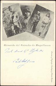 chile, PUNTA ARENAS, Estrecho de Magallanes Indios, Native Indians (1902)