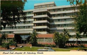 St Petersburg Florida~Mound Park Hospital~1940s Postcard