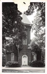 E8/ Lexington Virginia Va Real Photo RPPC Postcard Cline Lees Memorial Chapel