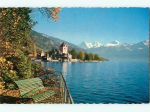 Oberhofen am Thunersee Eiger Monch Jungfrau Switzerland  Postcard # 7158