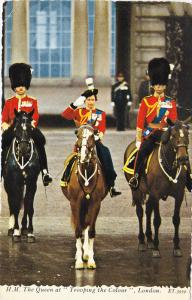 H.M. The Queen Takes Salute After Trooping the Colour Ceremony, WESTMINSTER...