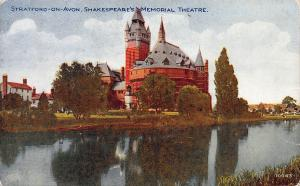 Shakespeare's Theater, Stratford-On-Avon, England, Early Postcard, Unused