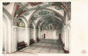 Postcard North Corridor Main Floor Library of Congress Detroit Photographic ME6.