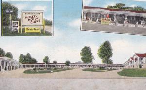Butler's Motor Court, 32 mile South of CHARLESTON, South Carolina, 30-40s, US 17