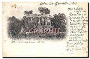 Postcard Old Nice Cascade du Chateau