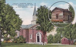 Lincoln Marriage Temple Pioneer Memorial State Park Harrodsburg Kentucky
