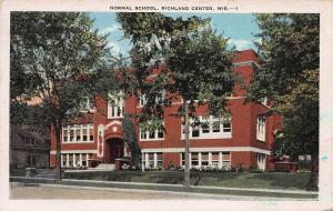 Normal School, Richland Center, Wisconsin, Early Postcard, unused