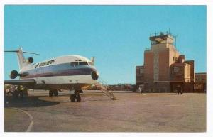 Airplane at airport, Indianapolis, Indiana, 1960s, EASTERN Airlines Jet