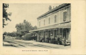 france, SAINT-JULIEN-EN-GENEVOIS, Gare du P.L.M., Railway Station (1899)