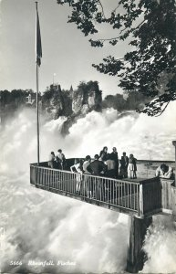 Switzerland Rheinfall guided tourist visit Postcard