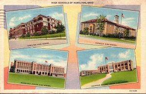 Ohio Hamilton High Schools 1944 Curteich