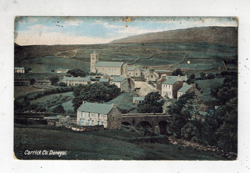 Mint Picture Postcard Donegal Ireland Carrick Co Village View