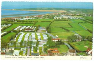 UK, General view of Sand Bay, Weston-Super-Mare, 1979 used Postcard