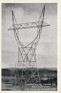 NEVADA, 1930-40s; Transmission Tower on Boulder Dam - Los Angeles Power Line