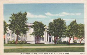 Carbon County Junior High School Price Utah 1949 Curteich