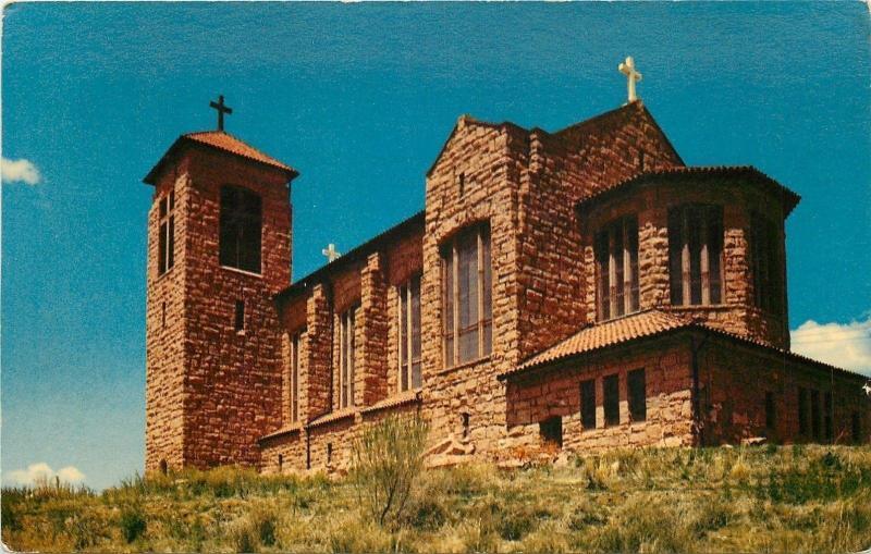 Ruidoso New Mexico~Beautiful Catholic Church~1950's Postcard
