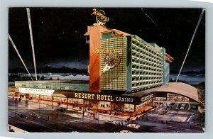 Lake Tahoe, Harvey's Resort Casino, Illuminated By Night, Chrome Nevada Postcard