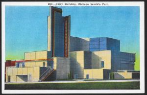 Chicago Worlds Fair 1933-1934 Dairy Building Chicago Illinois Unused c1933