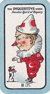 Carreras Small Vintage Cigarette Card The Nose Game No B7 The Inquisitive Nos...