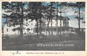 Highland Lake Inn - Highland Lake (Venoge, New York)