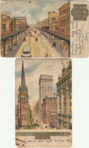 Lot 2 hold to light NEW YORK Surety Building Broadway Elevated Railroad Bowery