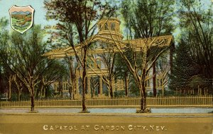 NV - Carson City. State Capitol  (Gold Foil, Heavily Embossed)