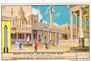 Liebig Trade Card s1662 Beauty Of Ancient Rome No 2 Het Forum van Trajanus