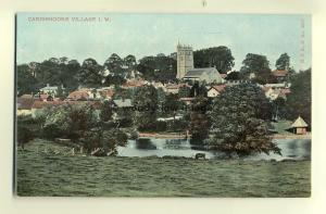 h0106 - View across Mill Pond to Carisbrooke Village , Isle of Wight - postcard