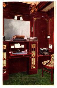 16263  Overland Limited  Observation Parlor,  Library Writing Desk