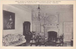 Virginia Fredericksburg Great Room At The Kenmore Showing Famous Celing And M...