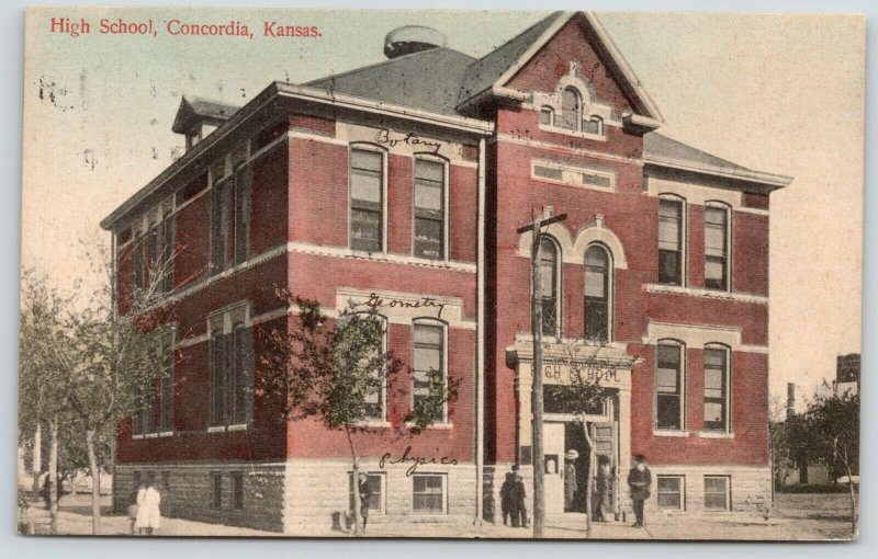 Concordia Kansas~High School~Botany Geometry Rooms~Teacher Plants Lima Bean~1909