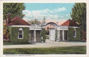 Virginia Mount Vernon Mansion Texas Gate