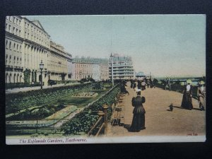 Sussex EASTBOURNE The Esplanade Gardens c1906 Postcard by J.W.S.