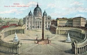 Italy Roma Piazza S. Pietro e Basilica Vaticana 01.71