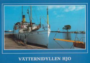 SS Trafik Vatternidyllen HJO Scandanavian Ship Postcard