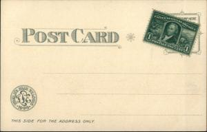 1904 St. Louis World's Fair Lewis & Clark SILVER BACKGROUND Postcard #1