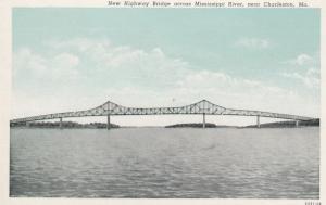 CHARLESTON , Missouri , 1910s ; New Highway Bridge , Mississippi River
