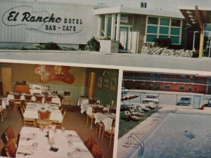 Vintage Postcard El Rancho Hotel Bar Cafe Williston Oil Basin North Dakota  671