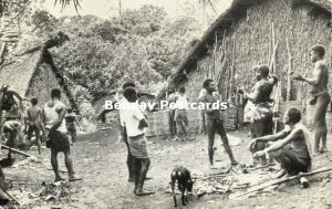 new hebrides, Vanuatu, Malekula Island, Village Scene (1950s)