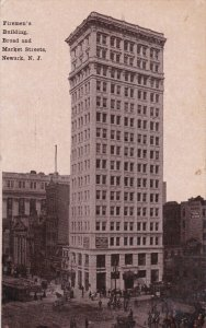 NEWARK, New Jersey, PU-1910; Firemen´s Building, Broad And Market Streets