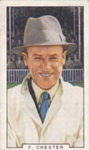 Gallaher Vintage Cigarette Card Sporting Personalities No 40 F Chester  1936