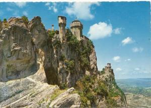 REPUBLICA DI S. MARINO, Prima e seconda Torre, First and second Tower, Postcard