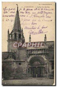 Old Postcard Tarascon Church Ste Marthe