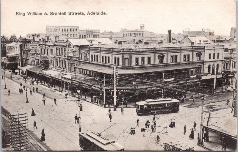 Adelaide Australia King William & Grenfell Streets Imperial Hotel Postcard E33
