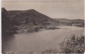 RP: Scenic View of Mountain and River Bend, 1910-1930