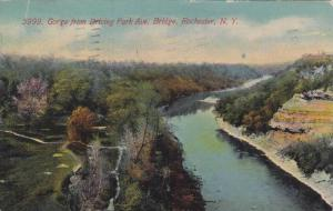 Gorge From Driving Park Avenue Bridge, Rochester, New York, PU-1911