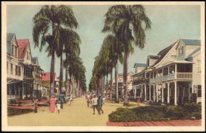 suriname, PARAMARIBO, Maagdenstraat (1920s) Mission