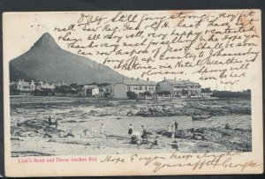 South Africa Postcard - Lion's Head and Three Anchor Bay    T2889