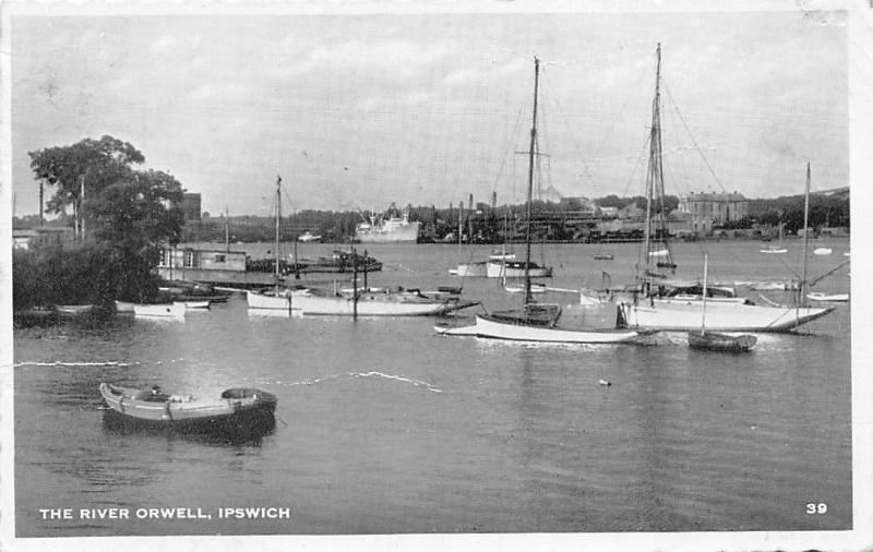 The River Orwell Boats Bateaux Ipswich 1960